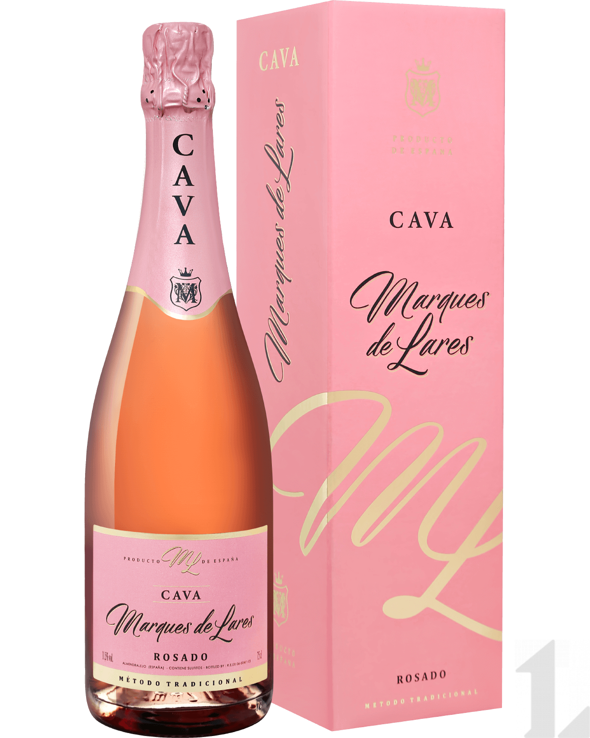 Игристое вино Marques de Lares Rosado Brut Cava DO Lopez Morenas (gift box) 0.75л