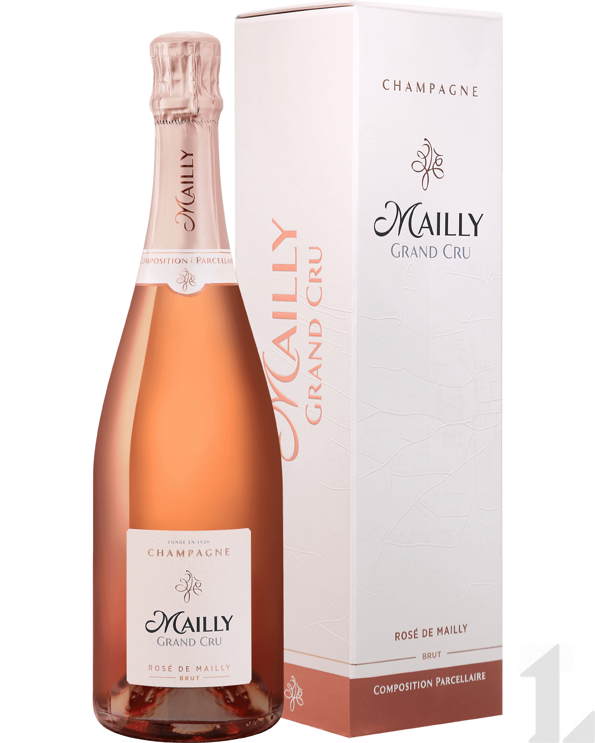 Игристое вино Mailly Grand Cru Rose de Mailly Brut Champagne AOC (gift box) 0.75л